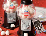 Dubble Bubble Gumball Machine Favors - Black And White wedding favors
