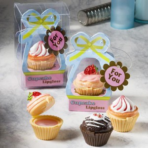 Sweet Little Cupcake Design Lip Gloss Favors wedding favors