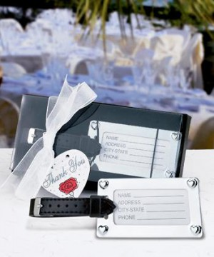 Chrome Luggage Tag Favors wedding favors