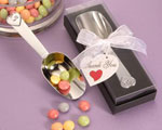 Chrome Candy Scoops wedding favors