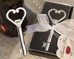 Heart Accented Key Bottle Opener Favors wedding favors