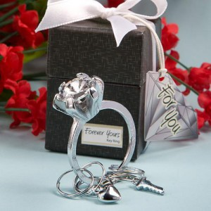 Forever Yours Collection Diamond Ring Design Key Ring Favors wedding favors