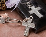 Lustrous Cross Metal Key Chains wedding favors
