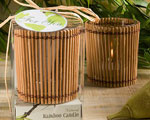 Natural Selections Collection Bamboo Wood Candles wedding favors