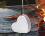 Silver Heart Shaped Place Card Holders wedding favors