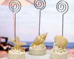 Beach Themed Placecard Holders wedding favors