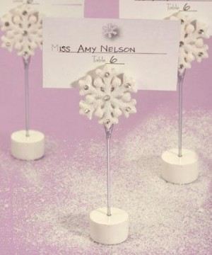 Snowflake Place Card Holders wedding favors