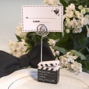 Clapboard Style Placecard Holder wedding favors
