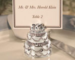 Silver Plated Wedding Cake Place Card Holders wedding favors