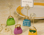 Super Chic Purse-Inspired Place Card Holders wedding favors