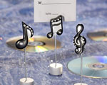 Musical Note Place Card Holders wedding favors