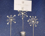 Snowflake Design Place Card Holders wedding favors