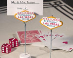 Las Vegas Themed Place Card Holders wedding favors
