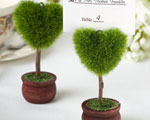Unique Heart Design Topiary Place Card Holder wedding favors