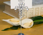 Decorative Cross Design Place Card Holder Favors wedding favors