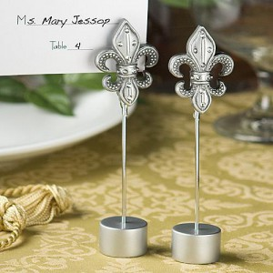 Attractive Fleur Di Lis Place Card Holder Favors wedding favors