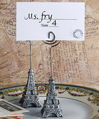 From Paris With Love Collection Eiffel Tower Place Card Holder Favors wedding favors