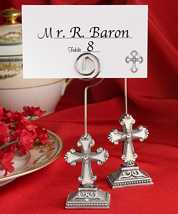 Elegant Cross Design Place Card/photo Holders wedding favors