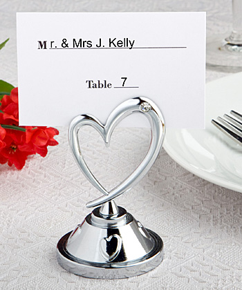 Heart Themed Place Card Holders wedding favors