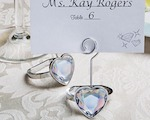 Heart Shaped Engagement Ring Place Card/Photo Holders wedding favors