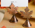 Autumn Leaf Design Placecard Holders wedding favors