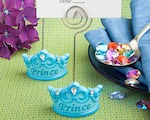 Blue Crown Design Place Card Holders wedding favors
