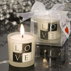 LOVE Design Candle Favors wedding favors