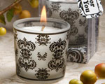 Damask Design Candle Favors wedding favors