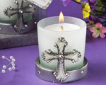 Regal Favor Collection Cross Themed Candle Holders wedding favors