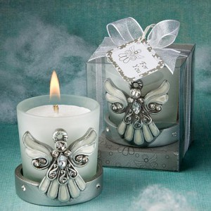 Regal Favor Collection Angel Themed Candle Holders wedding favors