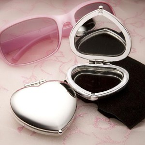 Heart Shaped Compact Mirror Favors wedding favors