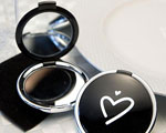 Styling Black Heart Design Compact Mirror Favors wedding favors