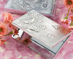 Elegant Reflections Collection Butterfly Design Mirror Compact Favors wedding favors