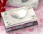Elegant Reflections Collection Heart Design Mirror Compact Favors wedding favors