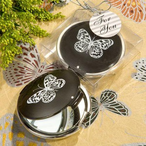 Elegant Reflections Collection Butterfly Mirror Compact Favors wedding favors