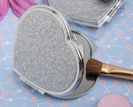 Heart Design Metal Compact Favors wedding favors