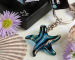 Murano Glass Collection Starfish Keychain Favors wedding favors