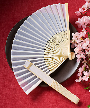 Elegant Silk Fan Favors wedding favors
