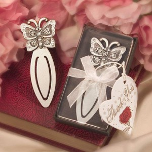 Butterfly Design Bookmarks wedding favors