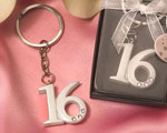Sweet 16 Key Rings wedding favors