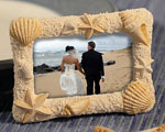 Beach-themed Photo Frames wedding favors