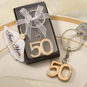 50th Anniversary Key Ring Favors wedding favors