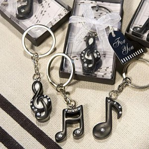 Musical Note Key Chain Favors wedding favors