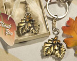 Autumn Inspired Keychain Favors wedding favors