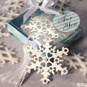Snowflake Bookmark Favors wedding favors