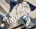 Musical Note Bookmark Favors wedding favors