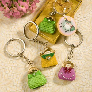 Whimsical Purse Design Key Chain Favors wedding favors