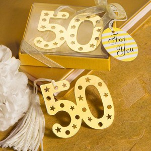 Book Lovers Collection 50th Anniversary Design Book Mark Favors wedding favors