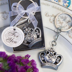 Royal Favor Collection Crown Design Key Ring Favors wedding favors