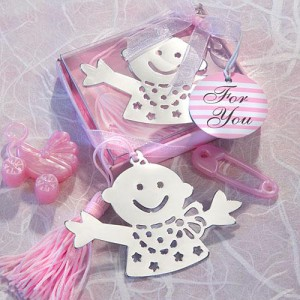 Baby Design Bookmark Favors - Pink wedding favors